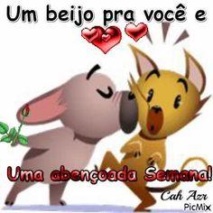 Um beijo abençoado pra todos! Portuguese Quotes, Lettering Tutorial, Emoticon, Diy And Crafts, Pikachu, Memes, Anime, Candy, Cute Good Night Messages