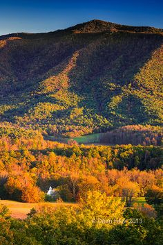 Cade's Cove at Sunset. http://www.pantherknobcottages.com