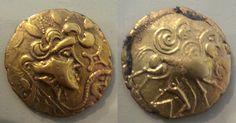 Coins of the Osismii - Pays de Léon.  Les monnaies en or, en argent, en électrum témoignent, parmi d'autres indices archéologiques, de la prospérité exceptionnelle des Osismes avant la catastrophe de -57.