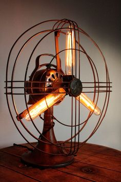 Vintage GE Fan Lamp by ThePigAndWhistle on Etsy                                                                                                                                                      More