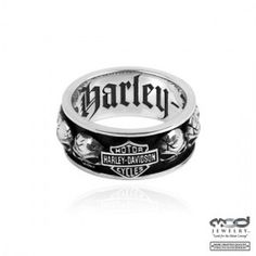Men's Harley-Davidson ® Willie G Skull  Sterling Silver  Spinner Ring  By Mod ®  Available in Sizes 9-15