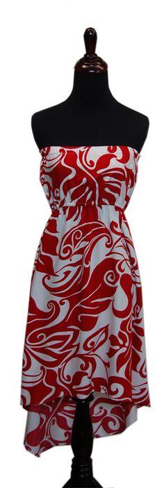 Valentine High-Low Ladies Summer Dress, Jade Fashion - Aloha Wear Clothing Store
