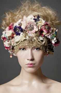 This is that hair accessory designer that we found in London...I just stumbled upon her image.