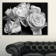 Shop for Bunch of Roses Black and White - Floral Canvas Art Print. Get free delivery at Overstock.com - Your Online Art Gallery Store! Get 5% in rewards with Club O!