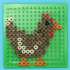 Design farm animals with Melty Beads using specially design pegboards and the heat of an iron! Melt Beads Patterns, Easy Perler Bead Patterns, Pearler Bead Patterns, Diy Perler Beads, Perler Bead Art, Beading Patterns, Beading Tutorials, Bracelet Patterns, Jewelry Patterns