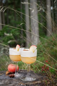 Apple drink with cinnamon and gin - Just one more cake- Äppeldrink med kanel och gin – Bara en kaka till Autumn apple drink with cinnamon and gin - Drinks Med Gin, Alcoholic Drinks, Beverages, Winter Cocktails, Wine Night, Drink Table, Food Goals, Food Packaging, Food And Drink