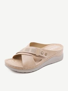 Girls Sandals, Women's Shoes Sandals, Leather Sandals, Low Heels, Wedge Heels, Striped Slippers, Oasis Dress, Fashion Sandals, Womens Slippers