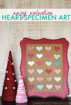 Valentine Heart Speciment Art | Shaken Together  CarolynsHomework