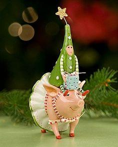 Krinkles by Patience Brewster Joyful Pig Salt and Pepper