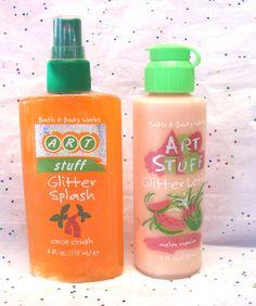 Bath & Body Works Art Stuff Glitter Splash and Lotion, 1990s