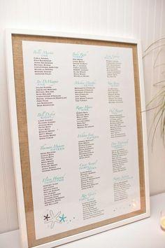 Seating chart.... Kinkos will print to size...