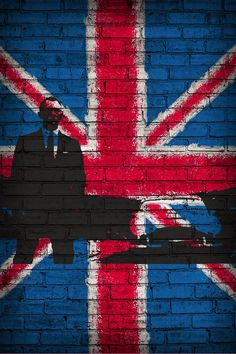 james bond wall art of british flag