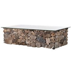 Coach House Large Rustic Rectangular Driftwood Glass Top Coffee Lounge Table is made up individual pieces of driftwood. Driftwood Coffee Table, Driftwood Furniture, Contemporary Style Homes, Contemporary Furniture, Glass Top Coffee Table, Coffee Tables, Shabby Chic, Lounge, Rustic