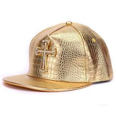 Crocodile skin Boy snap backs 3D metal decoration PU leather flat brim  baseball caps hip hop hat for men 1f81a7f6bd9