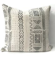 African Mudcloth Pillow Cover Ethnic by HomegirlCollection on Etsy $98