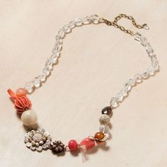 Elements Jill Schwartz Diversely Bejeweled Delights: Ribbon and Shell Necklace