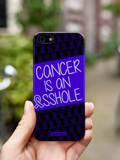 Inspired Cases Cancer is an ASSHOLE Blue Case for Galaxy S3 Inspired Cases http://www.inspiredcases.com/ #phonecase #Iphonecase #support