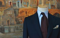 "arcxiii: "" Sprezza/Spanish brand. Model/Borgogna Grenadine untipped tie. """
