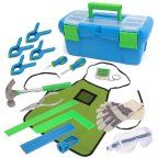 Kids 18-Piece Tool Set with Blue Toolbox