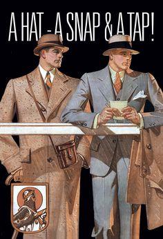 vintage men's art deco fasion   Image courtesy of ADSC.
