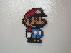 Super Mario Bros, Little Mario  Perler Beads, Hama Beads Magnet Sprite by MitchellPaulCrafts, $5.00