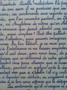 French brings out the fancy in me. As well as cursive.