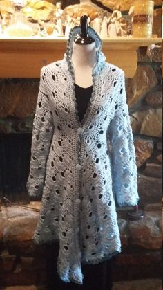 This is for the actual PDF pattern for my Colonial Cardigan. I designed this… Crochet Coat, Crochet Jacket, Crochet Cardigan, Diy Crochet, Crochet Vests, Crochet Style, Crochet Sweaters, Crochet Skirts, Crochet Clothes