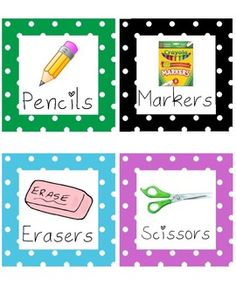 These are labels that can be used for your own organization purposes in your closets or cabinets. You could also use them out in the classroom to l...