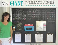 giant wall command center #organization