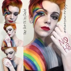 Rainbow Pride Makeup done by 16 year old Face Art FX by Rachel https://www.facebook.com/FaceArtbyRachel Instagram: that.painting.girl YouTube: Face Art FX by Rachel