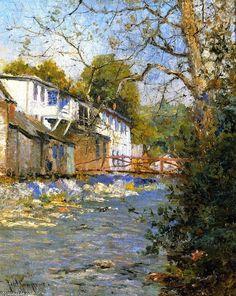 Paul Sawyier |  The little bridge, 1915