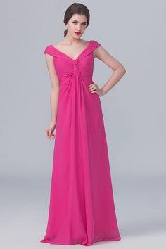 ea2fddd85b off the shoulder v neck fuchsia chiffon empire modern bridesmaid dress
