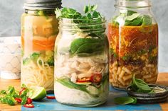 Fancy a pho for work tomorrow? Assemble the ingredients tonight and just add boiling water at lunch time.