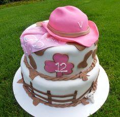 Cowgirl Cake by simplysweetidea on Etsy, $95.00 #cowgirl #birthday #cowgirlcake