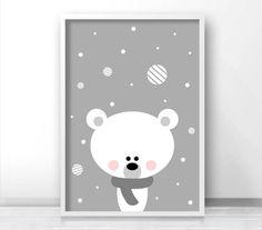 Polar Bear Christmas Print Printable Christmas por LimitationFree
