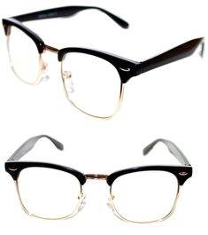 1a7e815a596c MEN S WOMEN S WAYFARER SOHO CLUB MASTER HALF SHELL CLEAR LENS EYE GLASSES
