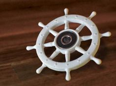 Pirate Ships Wheel - Fidget Spinner 3d printed. Sail & Spin. For more awesome spinners- www.dizzyspinners.com