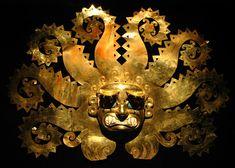 Ancient Peruvian gold mask