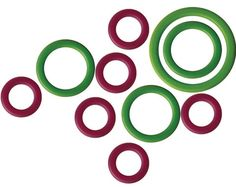 KNITTER'S PRIDE MIO STITCH SMALL RING MARKERS 10-PKG KP800171