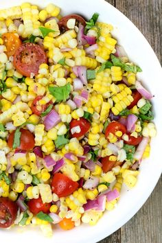 Fresh Corn Salad via @Simply Sissom