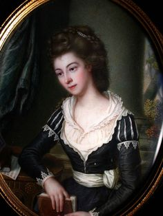 James Scouler, Miss Mary Jolly, circa 1783,watercolour on ivory, The Johnston Collection