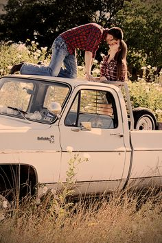 the majority of couple pictures i find on pinterest with trucks in them are the sole purpose i want eric to have a truck... js