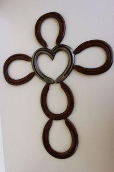 Heart Horseshoe Cross by willcapps on Etsy