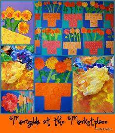 """""""Marigolds at the Marketplace"""" (from Painted Paper)"""
