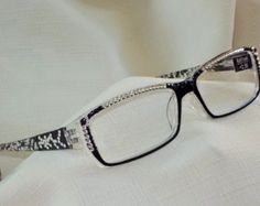 3ac302f405fa Reading glasses. See more. Check out Swarovski 2.50 Designer Frames.  Striking Black and Clear Design, Clear and Jet