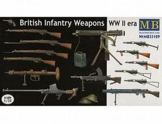 The Master Box 1/35 British Infantry Weapons WWII from the plastic figure model kits range accurately recreates the real life weapons used by British soldiers during World War II. This model requires paint and glue to complete.