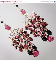 COLD SNAP SALE Ruby Chandelier Earrings  Wire by DoolittleJewelry, $168.75