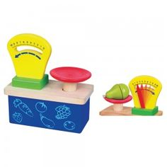 Weighing and Paying Set - Wooden Toys - Role Play - Early Years - The Consortium Education