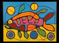 Nanabozho in the Fish's Stomach Inuit Kunst, Inuit Art, Native American Artists, Canadian Artists, Kunst Der Aborigines, Woodland Art, Arte Tribal, Atelier D Art, Indigenous Art