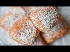 GOGOȘI FRANȚUZEȘTI - Beignets (French Doughnuts) (Eng. sub) || DULCINELE ❤ - YouTube Beignets, Doughnuts, Gem, Bread, Food, French, Youtube, French People, Brot